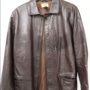 Armani Exchange Mens Leather Jacket